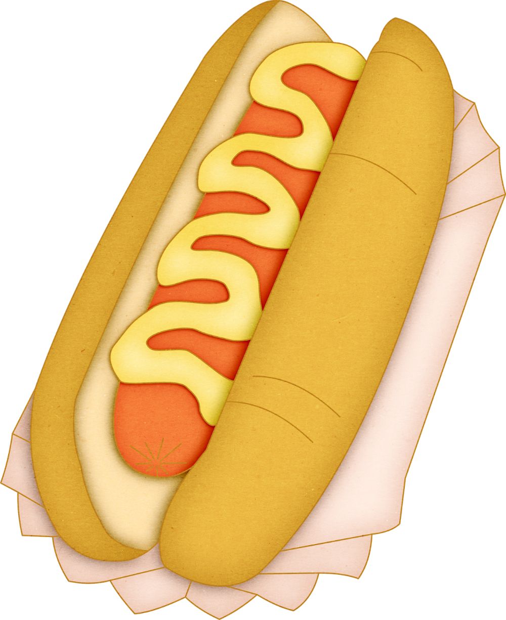 Country Party Free Printable Clipart Food Clips Cooking Art Hot Dog Drawing