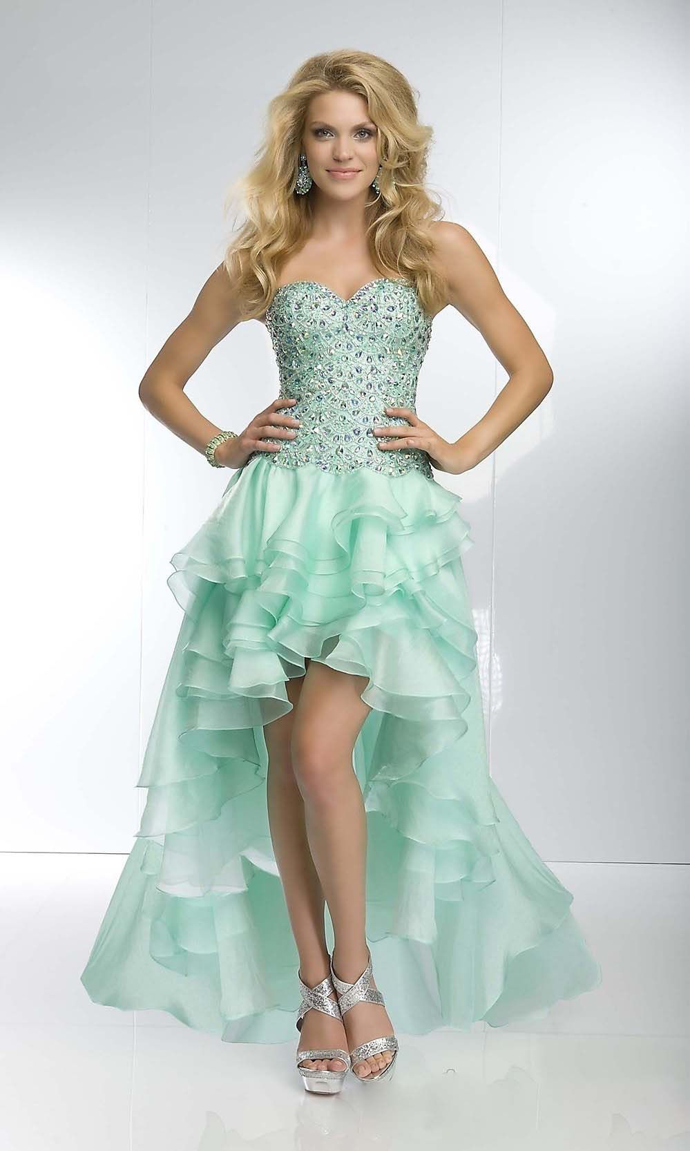 Junior High Low Prom Dresses for Cheap