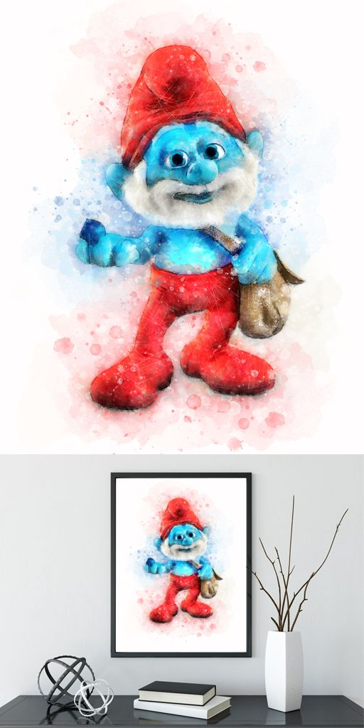 Crafts Kids Children The Smurfs Poster Art Set