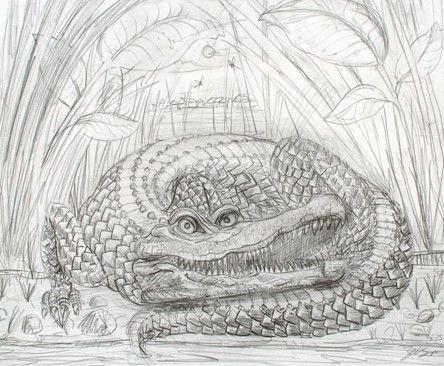 The Enormous Crocodile - 2015 Zeb Love Original sketch drawing