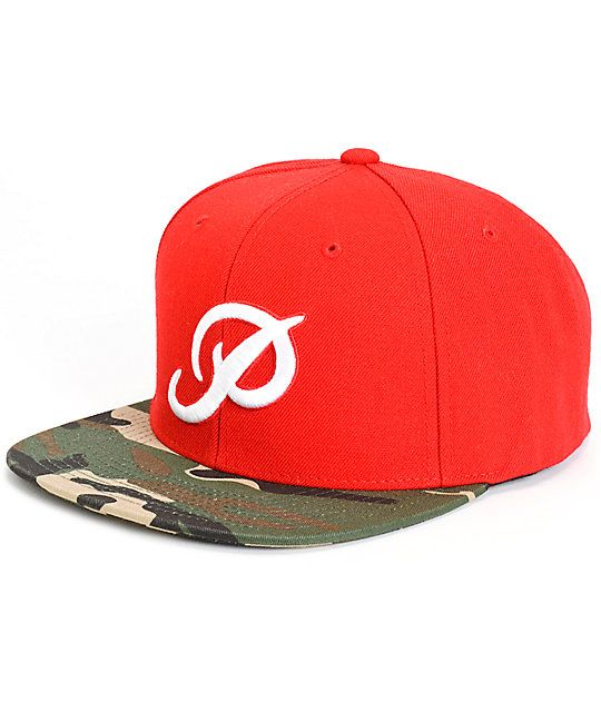 e0b3523c Finish off any outfit with legit style in this red snapback hat that  features a white
