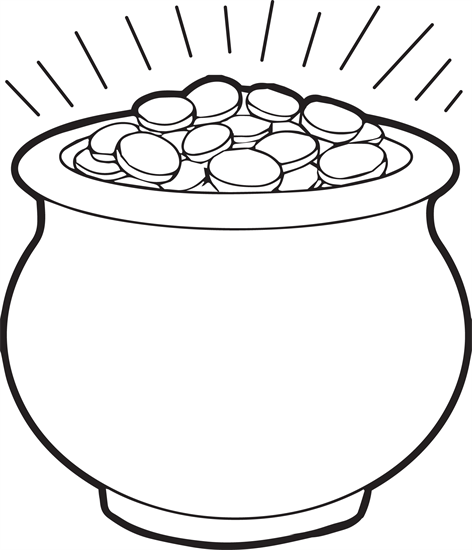 Pot Of Gold Coloring Page Printable