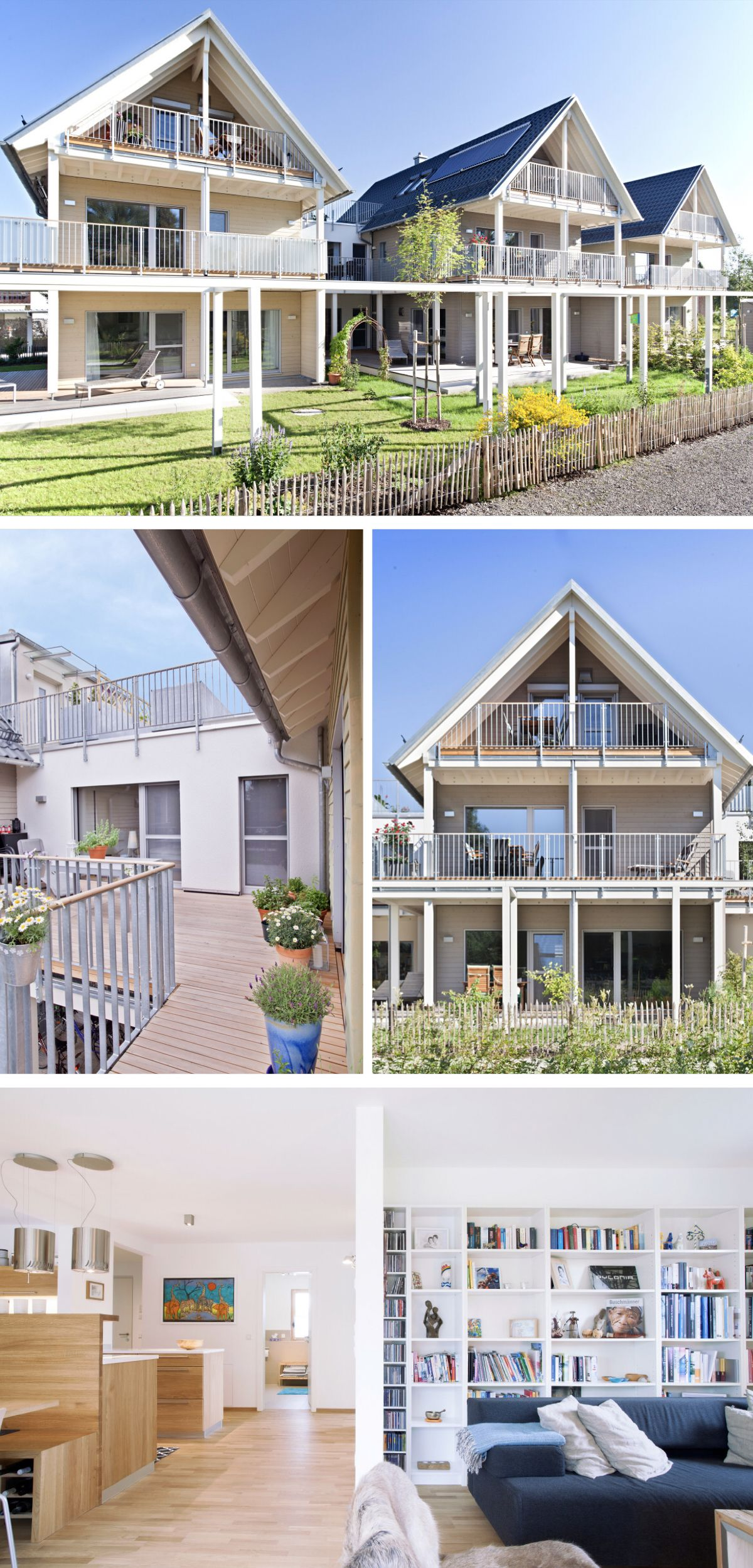 Ökologisches Mehrfamilienhaus im modernen Alpenstil - Haus ...