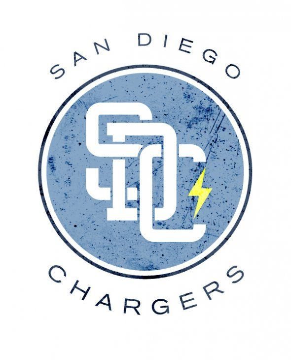 San Diego Chargers Fantasy: Vintage Inspired Logography