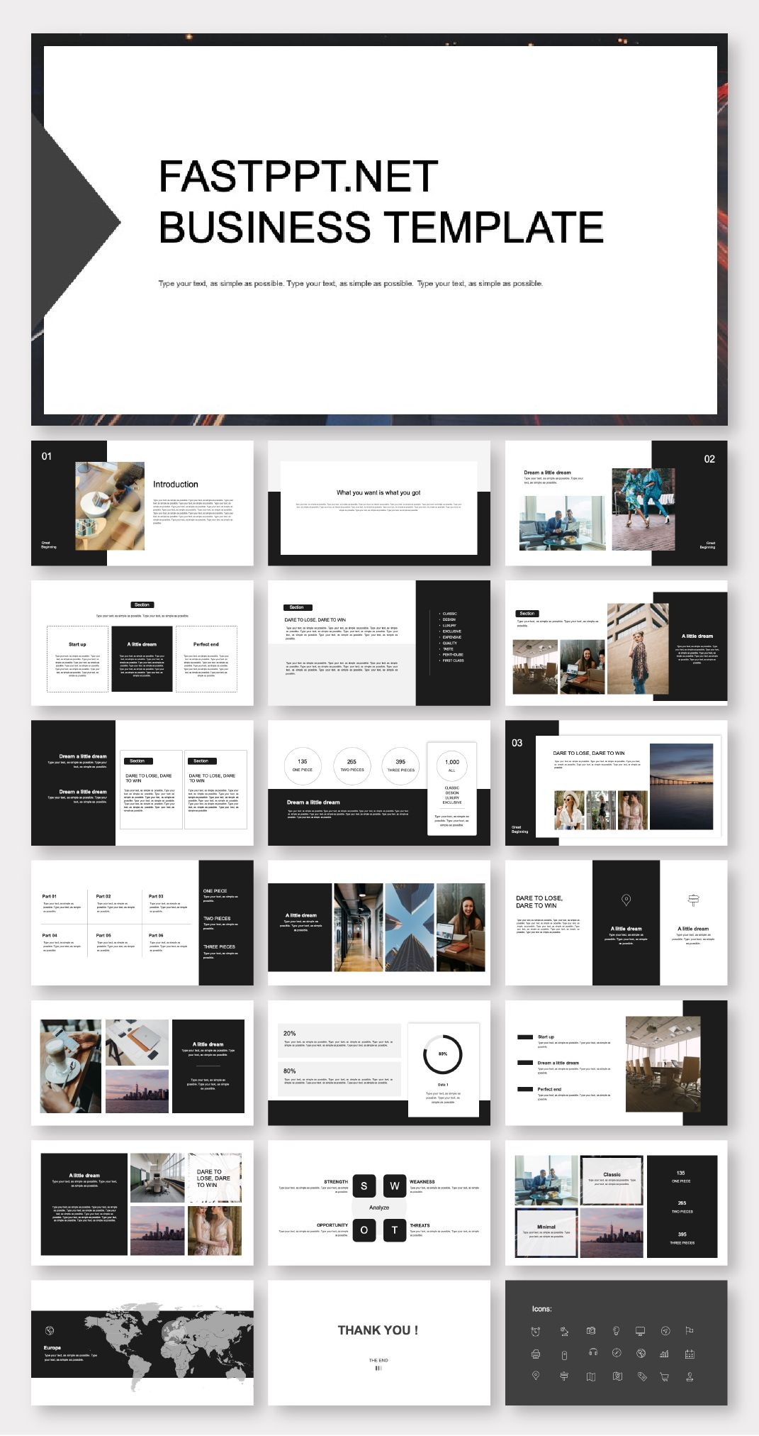 Black White Creative Business Plan Powerpoint Template Original And High Quality Powerpoint Templates Creative Business Plan Powerpoint Presentation Design Portfolio Design Layout