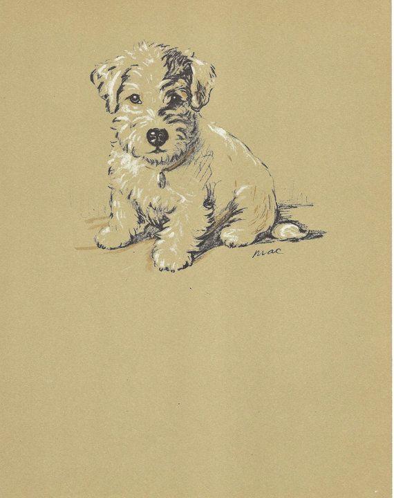 LIL\' PUP Vintage Dog Print 1930s Wall Decor Art by HucksterHaven ...