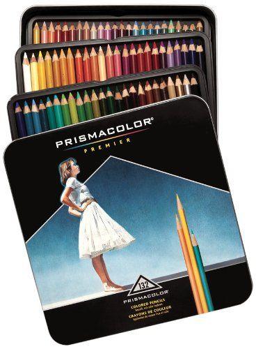 NEW PrismaColor Premier Soft Core 72 Coloured Pencils Tin Box Prismacolour