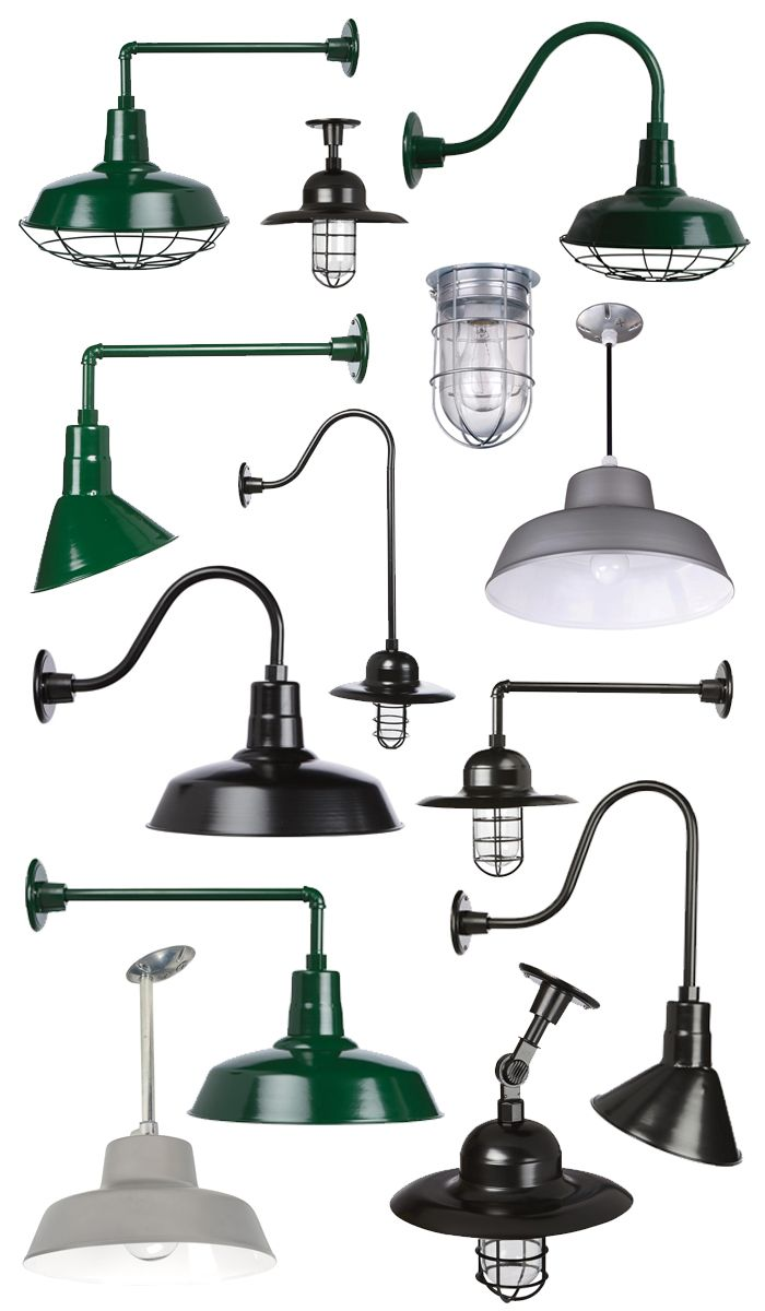 Affordable barn lights with multiple mounting options. Add a ...