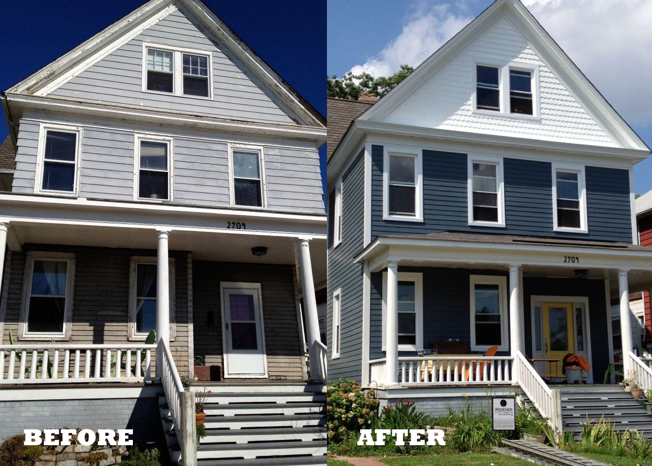 Before And After Featuring James Hardie S Hardieplank Siding House Siding Outdoor Renovation Hardy Plank Siding