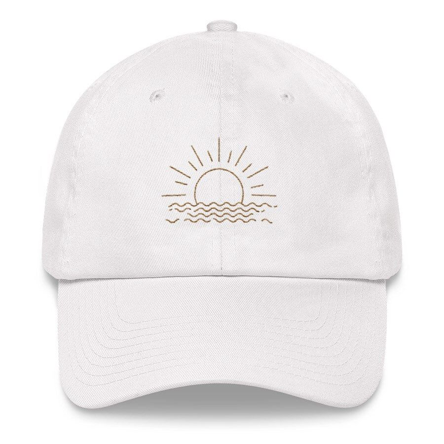 Excited to share this item from my  etsy shop  Sunset Outline Embroidered  Dad Hat   Trendy Dad Hats   Adjustable Tumblr Dad Hat   Vintage Baseball Dad  Cap 038d7de0c1ea