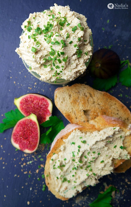 Chive and Garlic Cashew Cheese Chive and Garlic Cashew Cheese Lauren Scharf manfredmonkeys Eating C