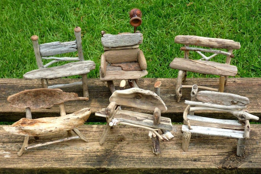 Miniature Rustic Twig Furniture by George C. Clark: 2014 #twigfurniture Miniatur..., #Clark ...
