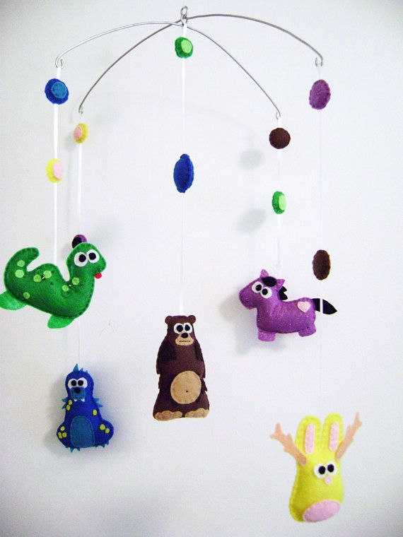 Felt Baby Mobile  Mythological Creatures  Home by RedMarionette