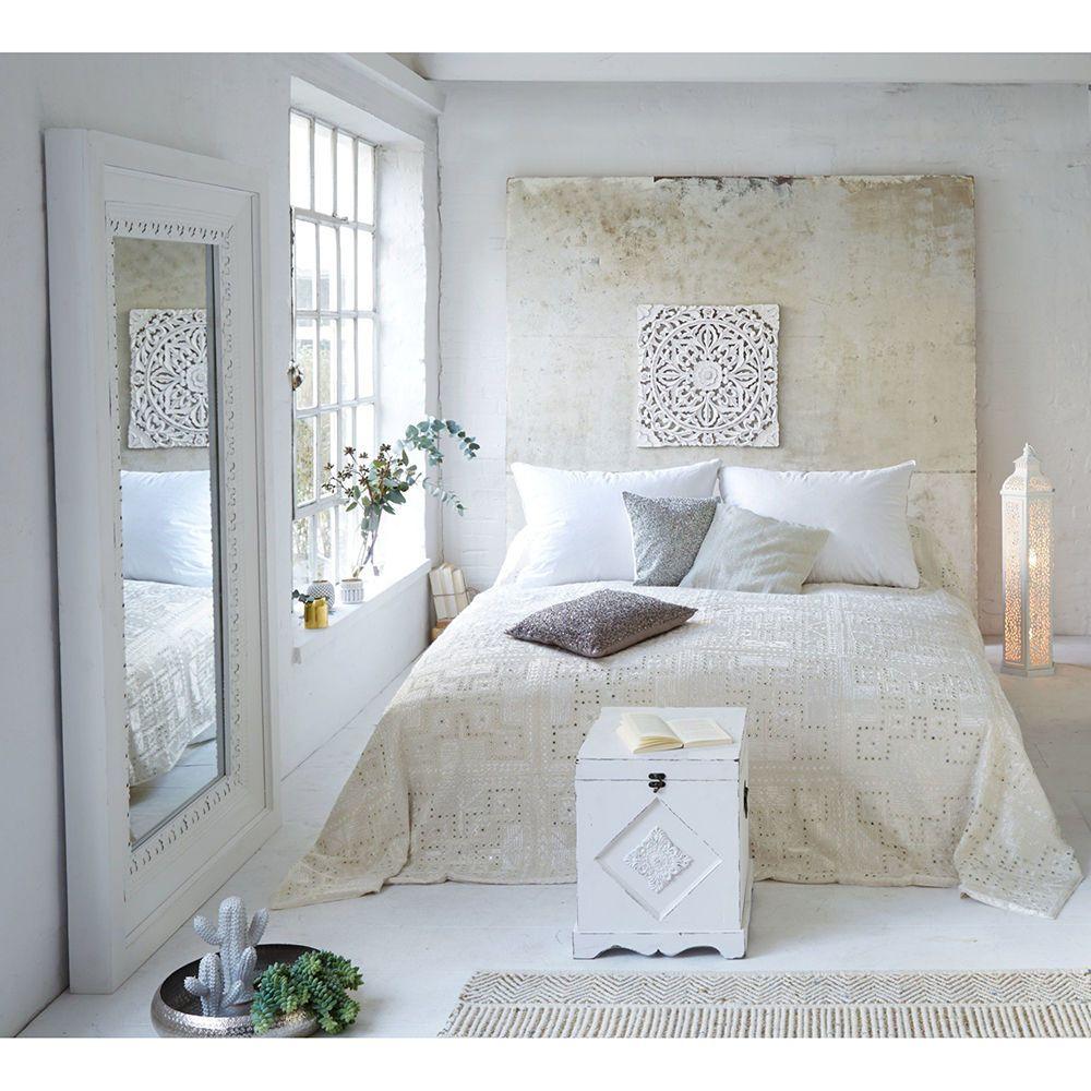 Miavilla Uberwurf Shine Creme Bettuberwurf Tagesdecke Sofauberwurf Baumwolle In Mobel Wohnen Bettwaren Wasche Zuhause Dekoration Bettuberwurf Ornamentik