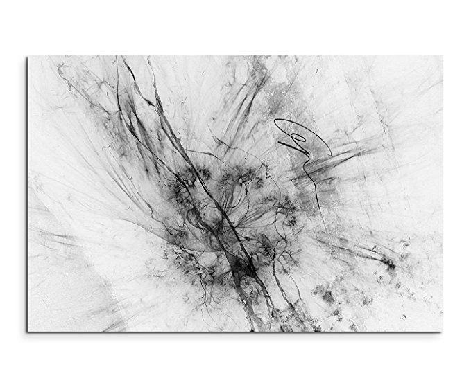 Abstrakt 1169 - 120x80cm SCHWARZ-WEISS Bilder - Wandbild Kunstdruck - wohnzimmer bilder abstrakt