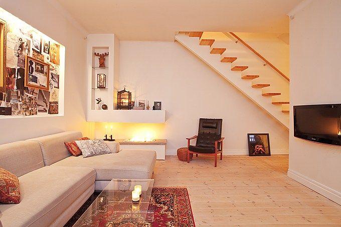 Un sal n con chimenea de bioetanol decoracion ideas e - Decoracion de salones con chimenea ...
