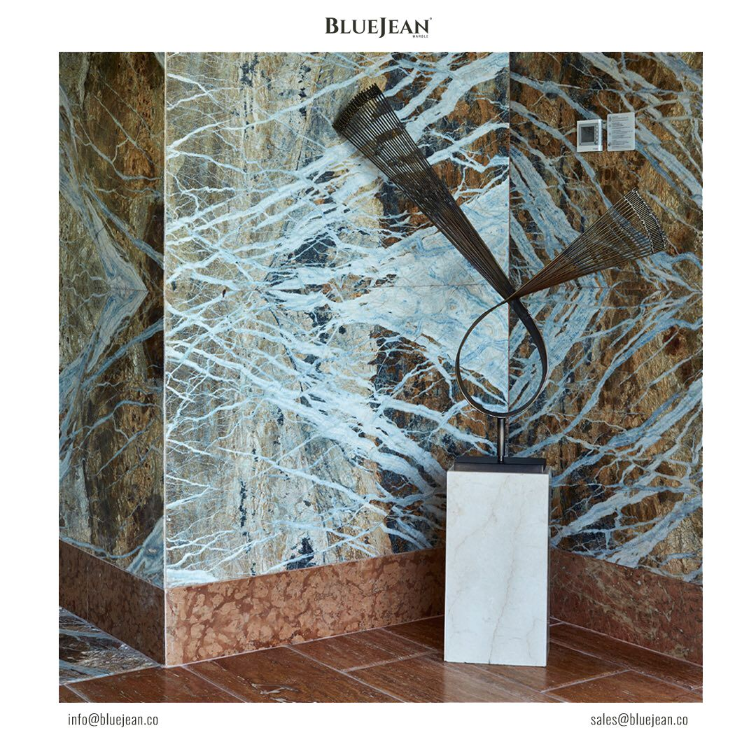 Blue Jean marble one of the world's most unique and desired natural stone. #bluejeanmarble #marble #marmi #marmo #bluejeansmarble #design #marbledesign #interior #slabs #blocks #tiles #luxury #naturalstone #inspire #exclusive #architecture #kitchen #bathroom #bookmatch #mermer #granite #mármol #мрамор #marbre #大理石 #蓝色牛仔大理石 #蓝色大理石