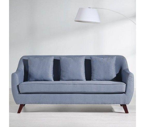 Schicker Dreisitzer In Blau   Für Entspannende Stunden Im Wohnzimmer