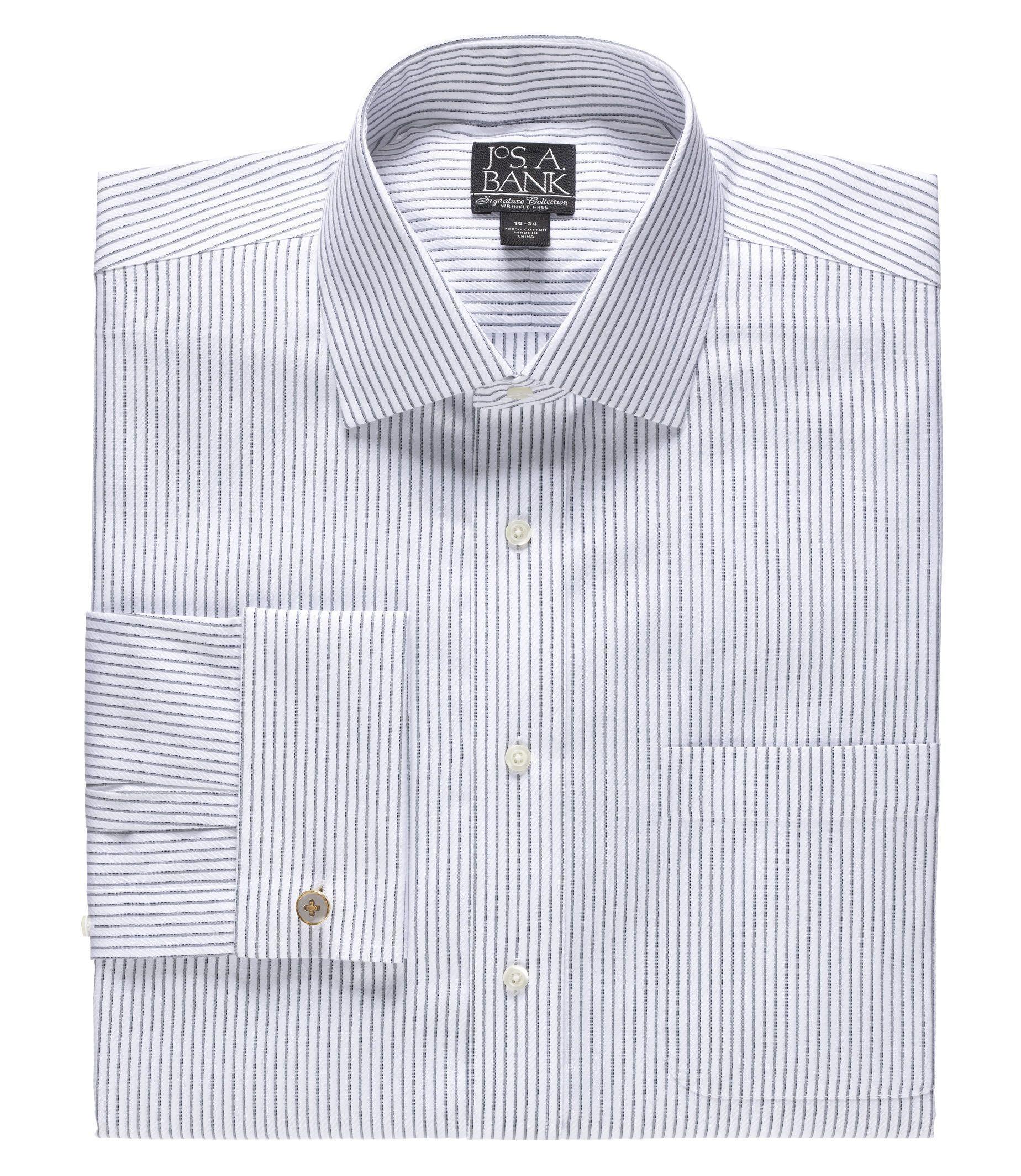 Signature Spread Collar French Cuff Dress Shirt