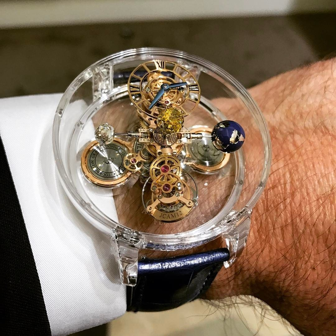 de108b2aaf322 The absolutely breathtaking Jacob & Co. Astronomia Full Sapphire 9-piece  limited edition.