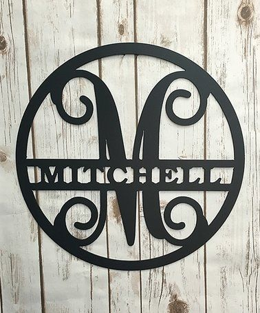 Enrich Your Walls With Custom Flair Courtesy Of This Personalized Decor That Boasts Elegant Steel Construc Personalized Metal Signs Vine Monogram Name Wall Art