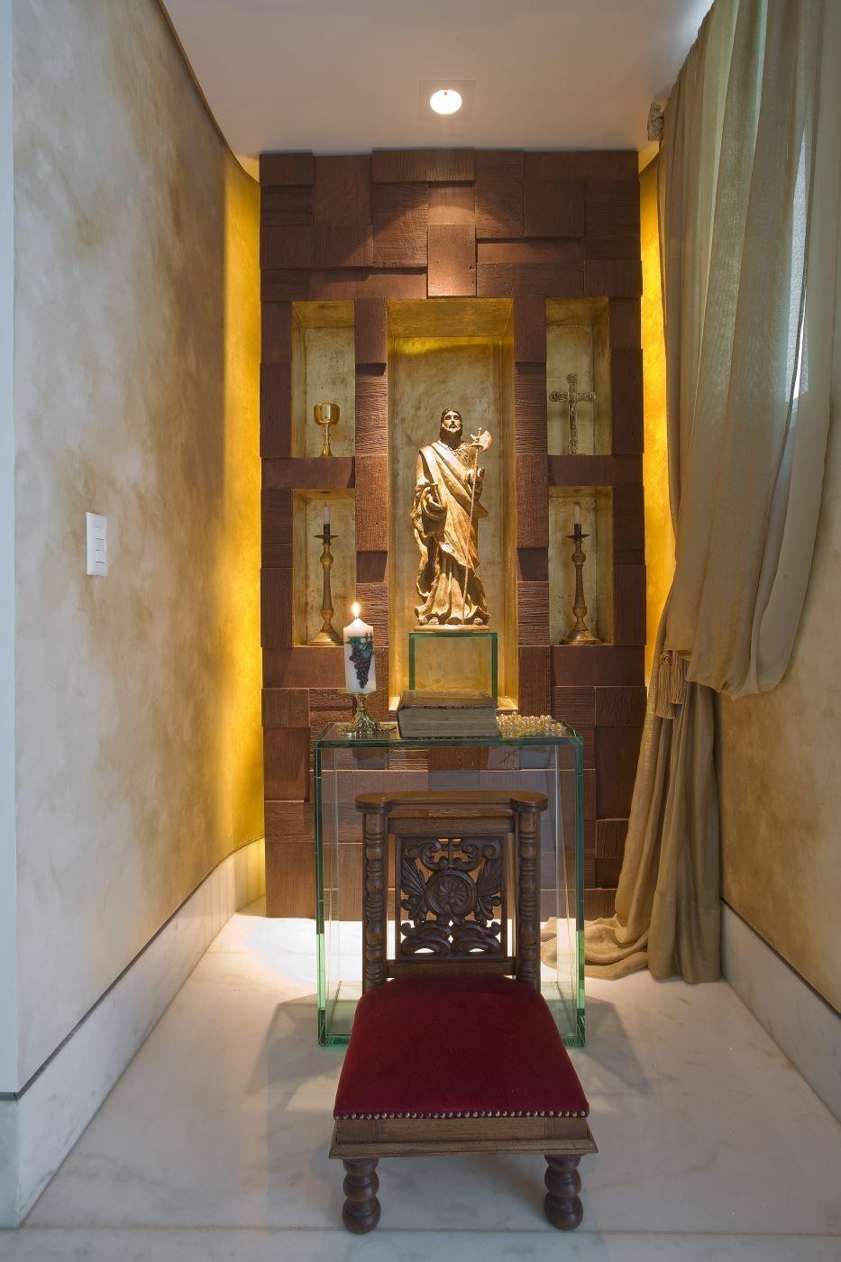 orat rios e arte sacra na decora o veja ideias para montar um cantinho de medita o na sua. Black Bedroom Furniture Sets. Home Design Ideas