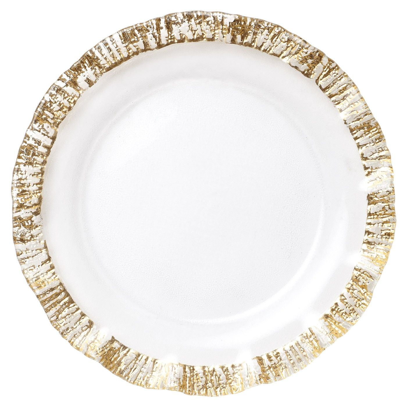 Rufolo Glass Gold Service Plate/Charger  sc 1 st  Pinterest & Rufolo Glass Gold Service Plate/Charger   Plate chargers Dinnerware ...