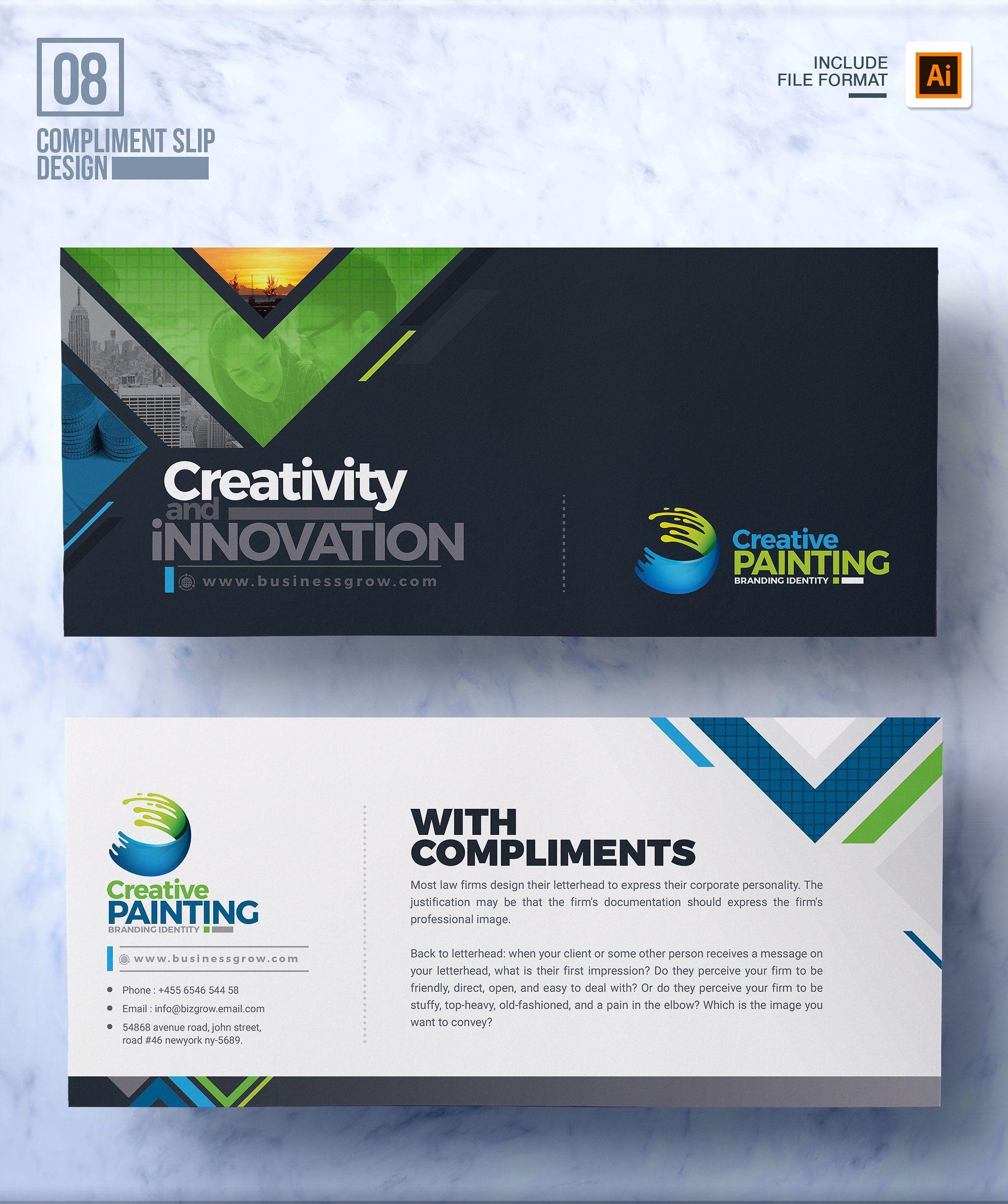 Business Mega Branding Bundle With Images Compliment Slip