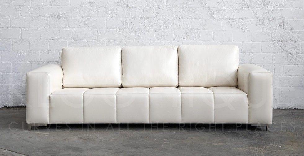 Klooftique white leather sofa