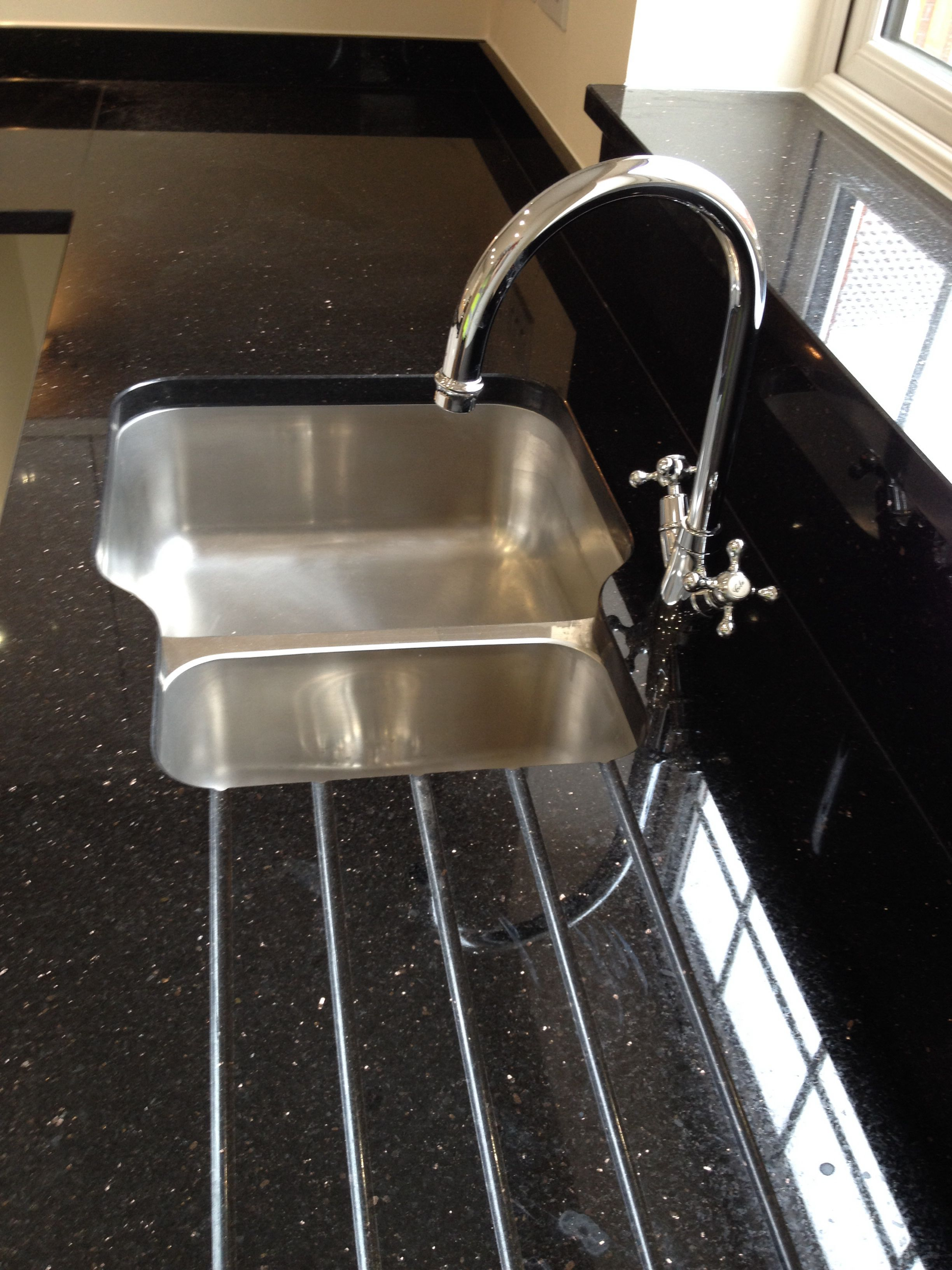 Star Galaxy Granite With Undermounted Sink For A Client In North Wiltshire Sink Undermount Sink Kitchen Fittings