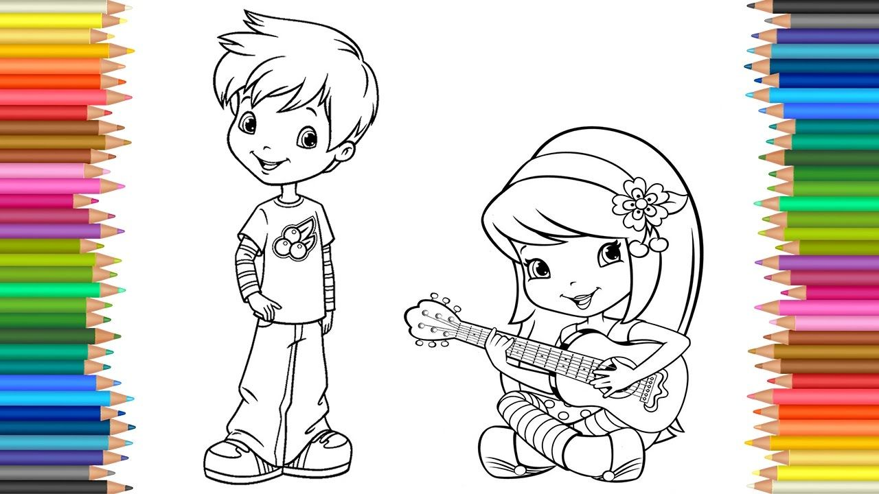 Coloring Pages Strawberry Shortcake, Cherry Jam, Huckleberry Pie ...