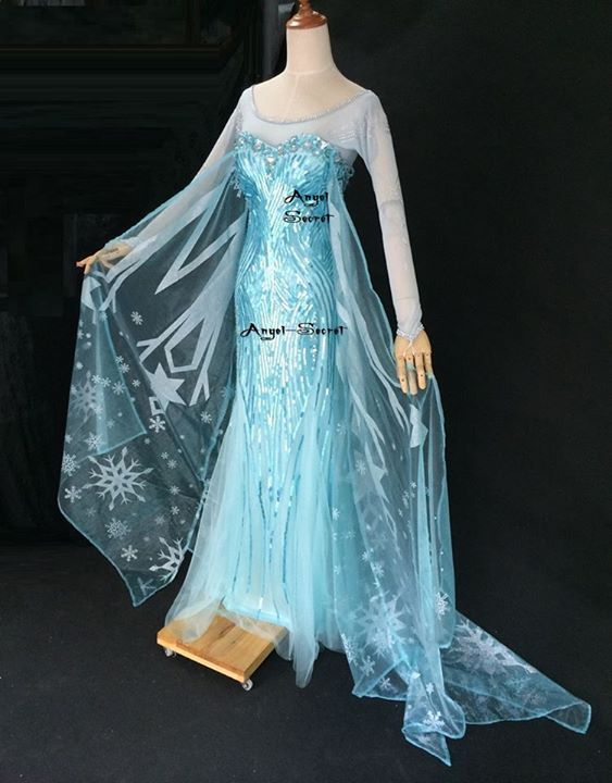 Clothing, Shoes & Accessories Modest Girls Frozen Elsa Coronation Snow Queen Princess Costume Party Dress And Cape