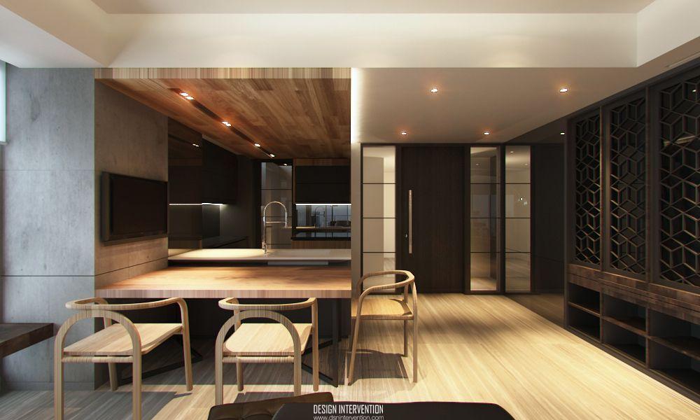 Apartment Interior Design Jakarta contemporary, modern | dining room | kemang village apartment