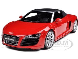 Audi R8 V10 5 2fsi Quattro Spyder Red 1 18 Diecast Model Car By Kyosho Diecast Model Cars Diecast Models Car Model