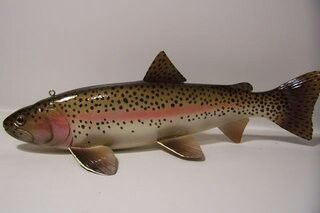 Rainbow Trout Fish Decoy By Tony Hughes With Images Rainbow