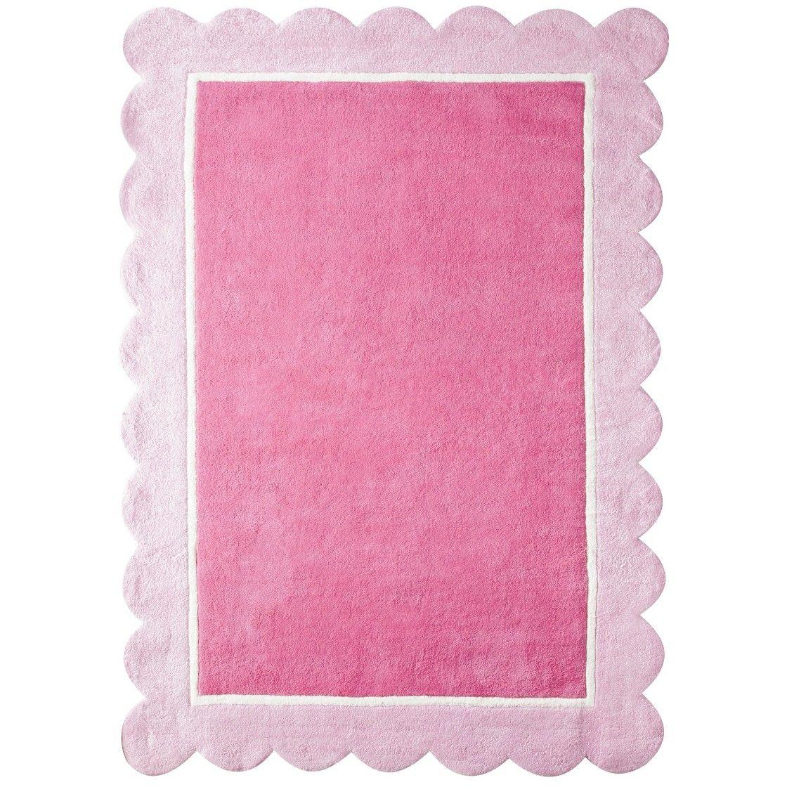 "Circo� Girl's Scalloped Border Accent Rug - Pink (4'x5'6"")"