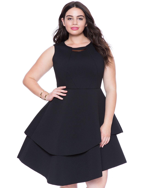 Studio Bonded Pique Dress | Women's Plus Size Dresses | ELOQUII