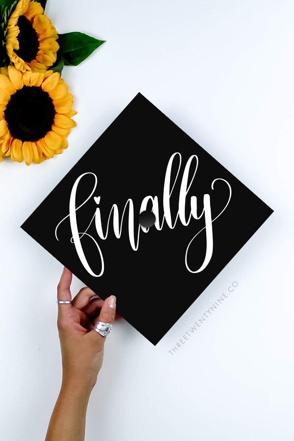 Graduation Cap Decal | DOWNLOAD ONLY | Finally | Grad Cap