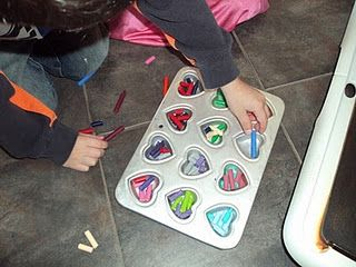 Melted Crayons -- wow, I wish I had seen this when my kids were little.. or even when I was eons ago.  I just ate my crayons when they got too short.  I know TMI, right?