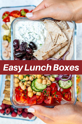 Easy Lunch Ideas Fitness Boxes #foodrecipes #healthycleaneating #lunch #ideas #fitness