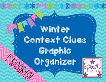 Winter Context Clues Graphic Organizer FREEBIE - speech and language therapy