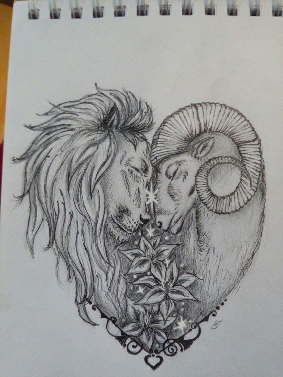 Sternzeichen, Löwe und Widder , Herz | Aries tattoo, Ram