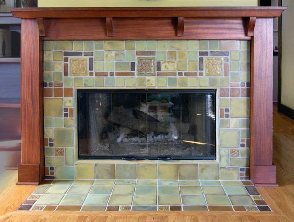 craftsman tile makers new fireplace mantel pinterest rh pinterest com