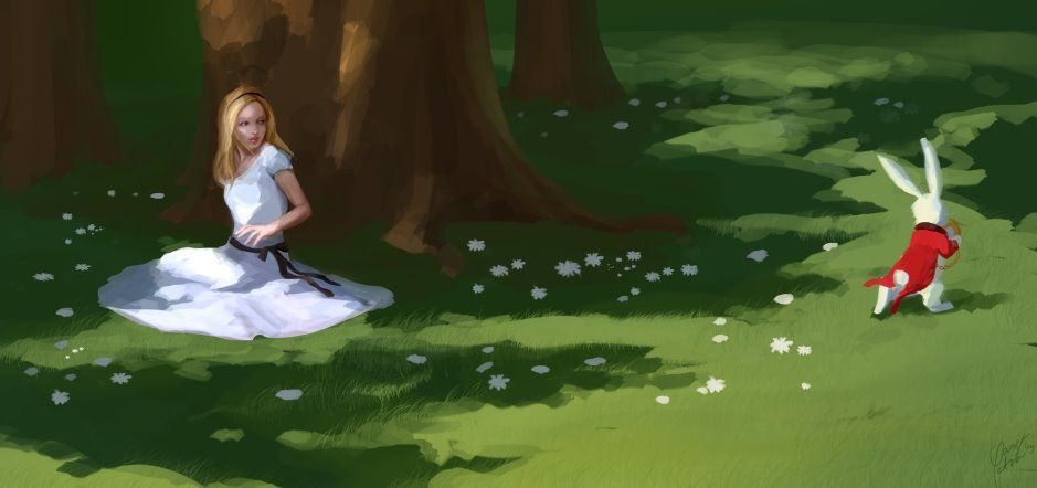 """A White Rabbit"" by Petra Varga"