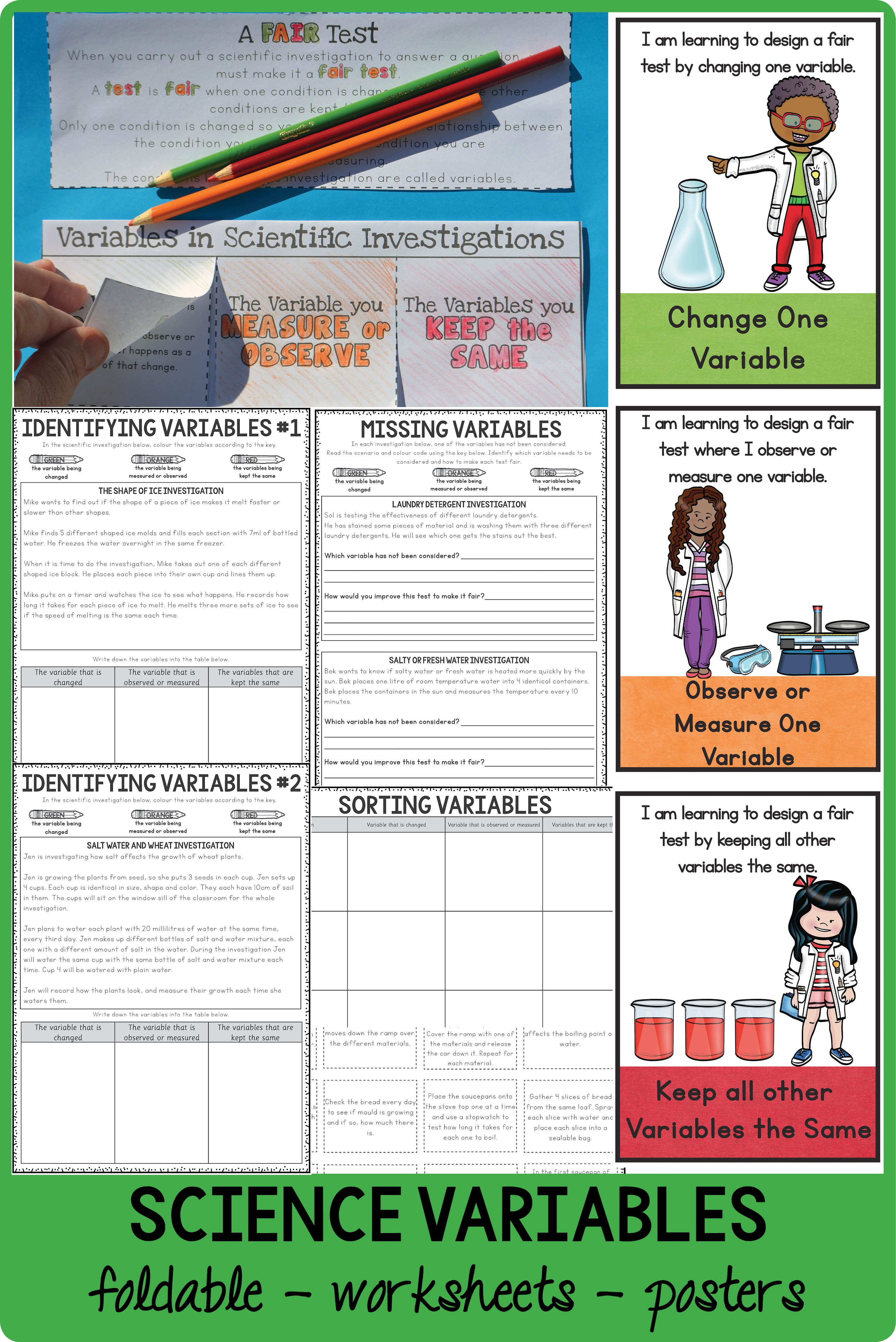 A Foldable Posters And Some Printable Activities To Teach