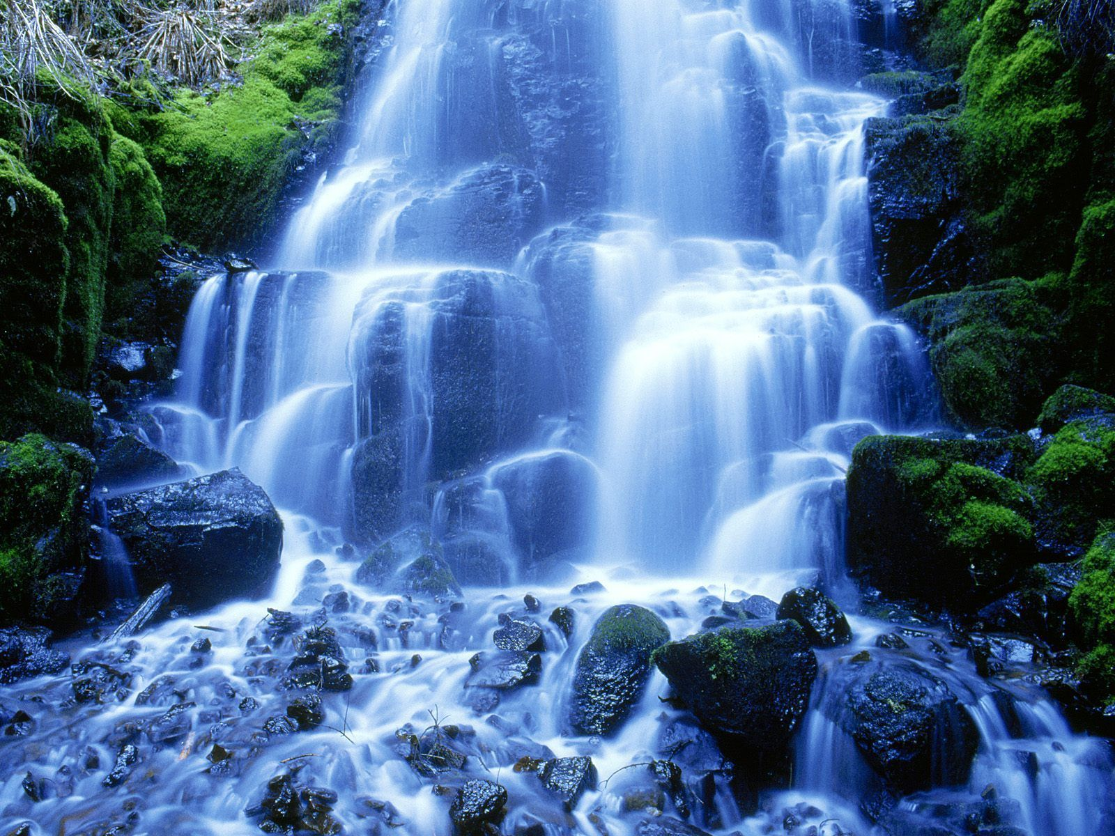 Mountain Waterfall Wallpaper With Images Waterfall Wallpaper