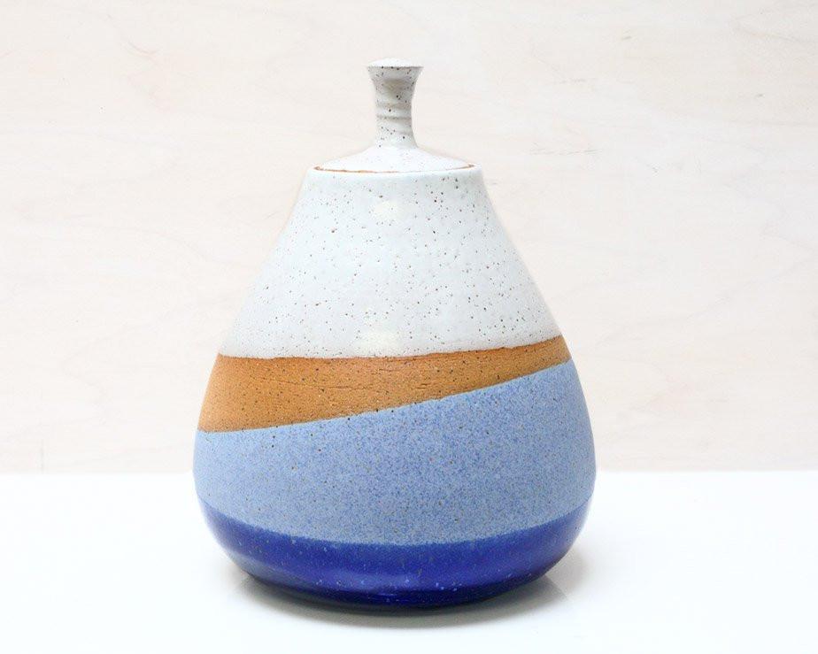 """Good Vibrations"" Lidded Jar (With images) - Jar lids, Best vibrators, Ceramic jars - 웹"