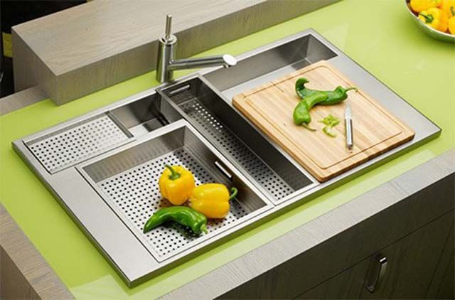 Beautiful Modern Stainless Steel Kitchen Sinks Best Collection Modern Multifunctional  Elkay Avado Accent Kitchen Sink In India Part 19