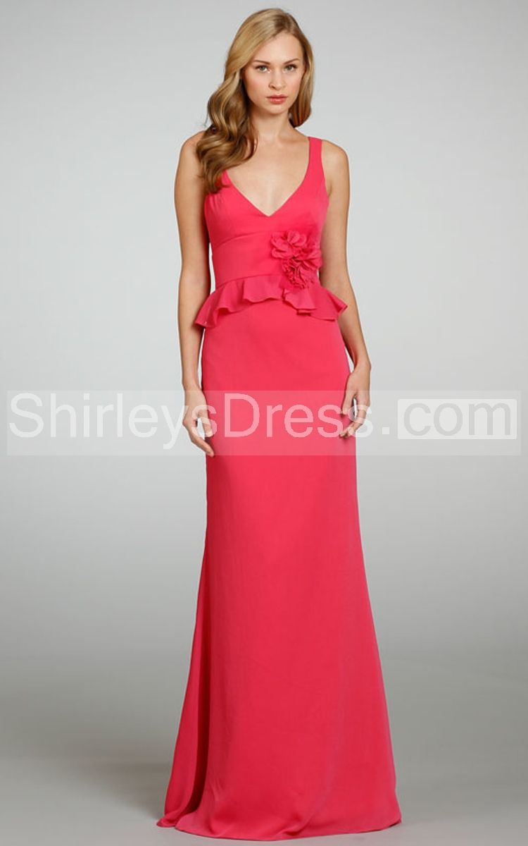 Pin by tamica blakeney on me pinterest scalloped edge bridal affordable sexy a line v neck straps floor length red chiffon long bridesmaid prom formal wedding party dresses ombrellifo Images