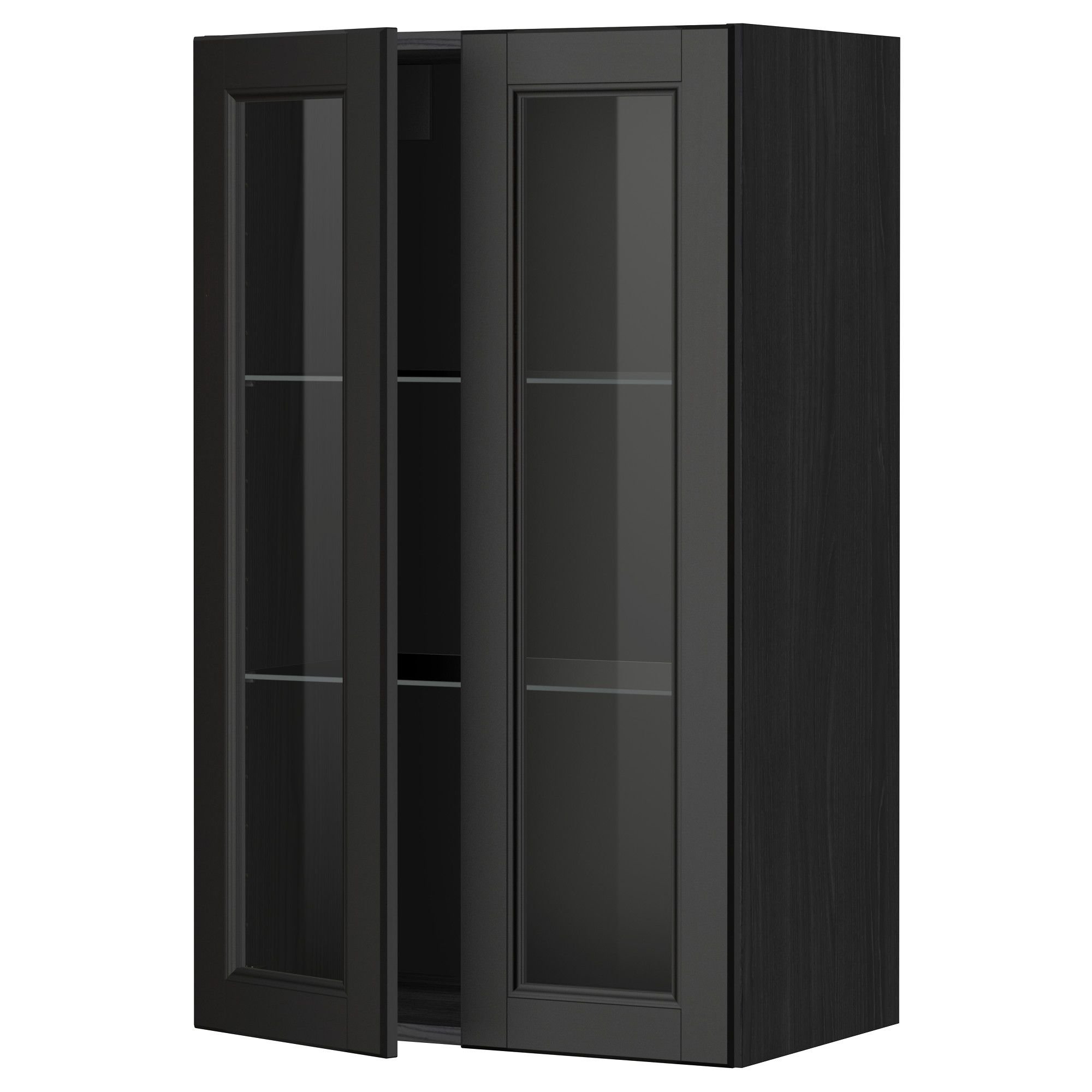 r sultat de recherche d 39 images pour meuble haut ikea vitr etagere bois laxarby maison. Black Bedroom Furniture Sets. Home Design Ideas